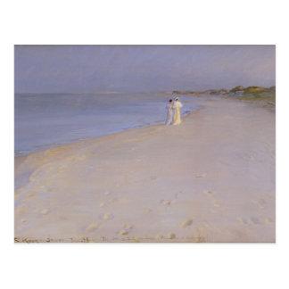 Summer evening at the South Beach, Skagen, 1893 Postcard