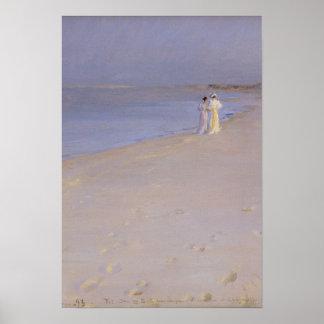 Summer evening at the South Beach, Skagen, 1893 Poster