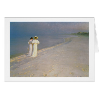 Summer Evening on the Skagen Southern Beach Card