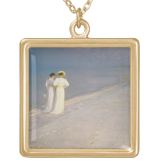 Summer Evening on the Skagen Southern Beach Gold Plated Necklace