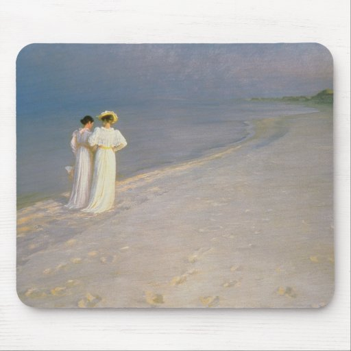 Summer Evening on the Skagen Southern Beach Mouse Pad
