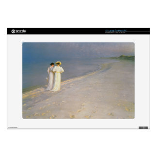 Summer Evening on the Skagen Southern Beach Skins For Laptops