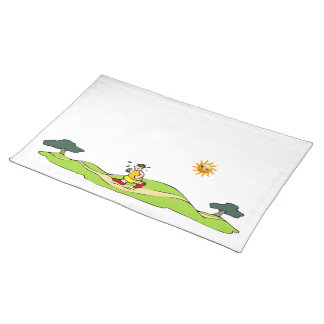 Summer Exercise Funny Placemats