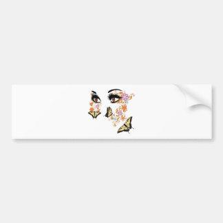 Summer Eyes with Floral 3 Bumper Sticker