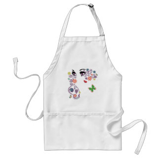 Summer Eyes with Floral 4 Adult Apron