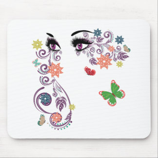Summer Eyes with Floral 4 Mouse Pad