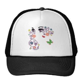 Summer Eyes with Floral 4 Trucker Hat