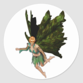 Summer Fae Fairy Classic Round Sticker