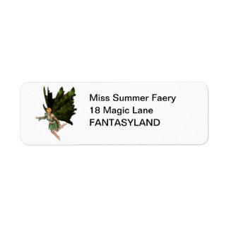 Summer Fae Fairy Label