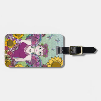 Summer Fairy with Dragonflies Luggage Tag