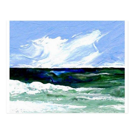 Summer Fantasy Ocean Art Seascape Sky Postcard