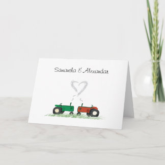 Summer Farm Wedding Invitation Card