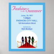 Summer Fashion Show Poster print