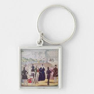 Summer Fashions for 1840 Keychain