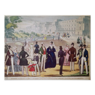 Summer Fashions for 1840 Poster