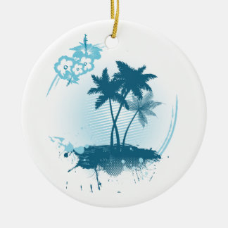 Summer feeling ceramic ornament