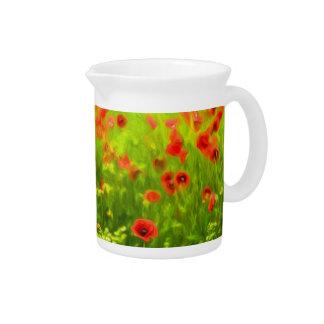 Summer Feelings - wonderful poppy flowers I Pitcher