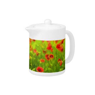 Summer Feelings - wonderful poppy flowers I Teapot