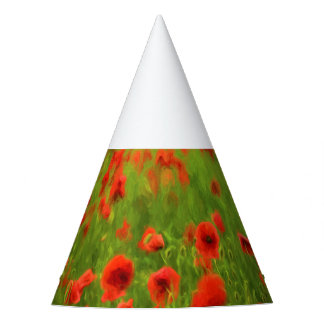 Summer Feelings - wonderful poppy flowers II Party Hat