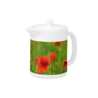 Summer Feelings - wonderful poppy flowers II Teapot