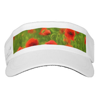 Summer Feelings - wonderful poppy flowers II Visor