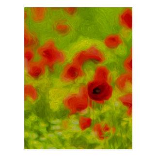 Summer Feelings - wonderful poppy flowers III Postcard