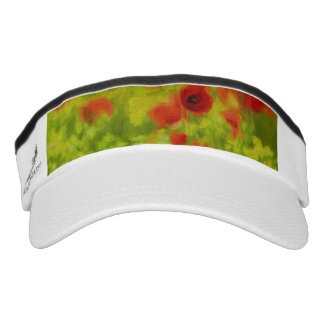 Summer Feelings - wonderful poppy flowers III Visor