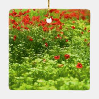 Summer Feelings - wonderful poppy flowers V Ceramic Ornament
