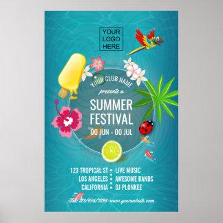 Summer Festival Club/Corporate advertisement Poster