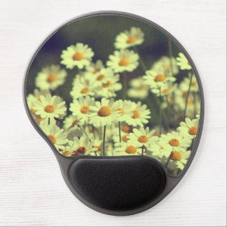 Summer field with white daisy gel mouse pad