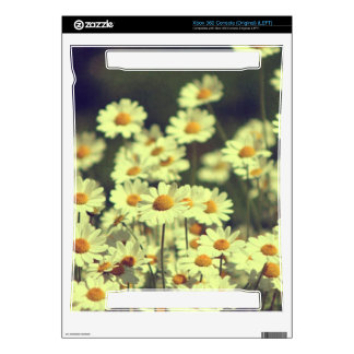 Summer field with white daisy skin for xbox 360