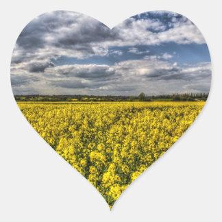 Summer Fields Heart Stickers