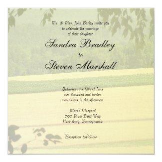 "Summer Fields Wedding Invitations 5.25"" Square Invitation Card"