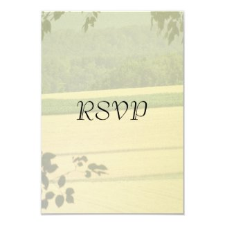 "Summer Fields Wedding RSVP 3.5"" X 5"" Invitation Card"