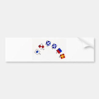 Summer Flags Bumper Sticker
