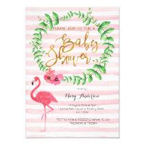 Summer Flamingo Baby Shower invitation