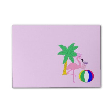 Beach Themed Summer Flamingo Post-it Notes