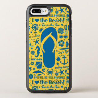 Summer Flip Flop Pattern OtterBox Symmetry iPhone 8 Plus/7 Plus Case
