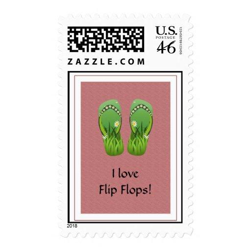 Summer Flip Flop Sandals - Postage Stamp