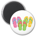 Summer Flip Flops 2 Inch Round Magnet