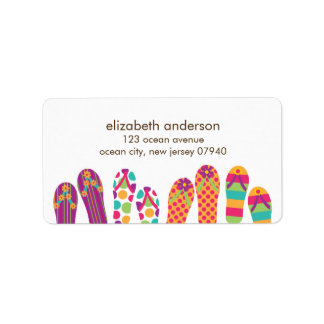 Summer Flip Flops Address Labels