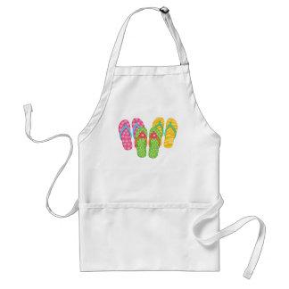 Summer Flip Flops Adult Apron