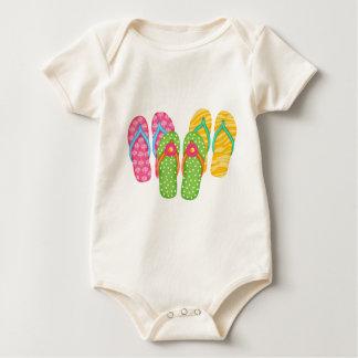 Summer Flip Flops Baby Bodysuit
