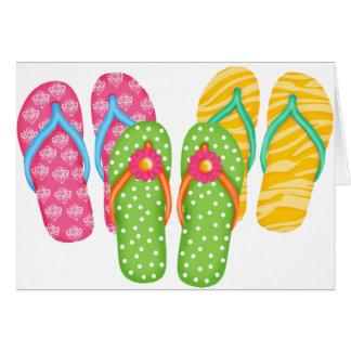 Summer Flip Flops Card