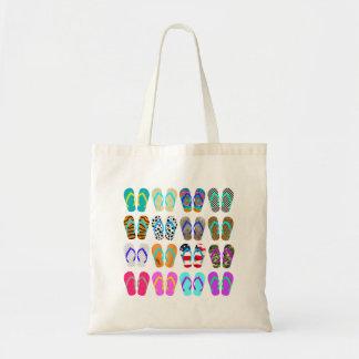 Summer Flip-Flops Chart Budget Tote Bag