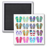 Summer Flip-Flops Chart Refrigerator Magnet