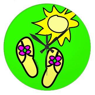 Summer Flip Flops Clock