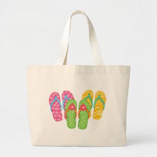 Summer Flip Flops Large Tote Bag