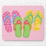 Summer Flip Flops Mouse Pad
