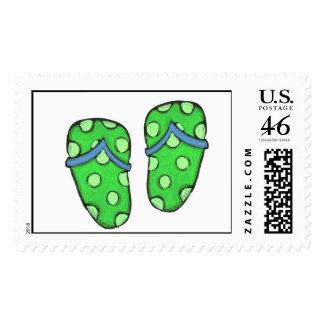 Summer Flip Flops Preppy Fun Postage Stamps